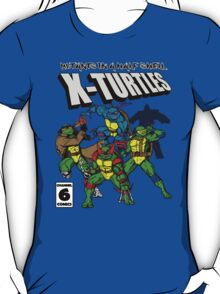 X-Turtles, Mutants in a half shell (Colab with RPAdame) T-Shirt