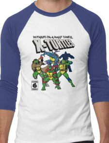 X-Turtles, Mutants in a half shell (Colab with RPAdame) Men's Baseball ¾ T-Shirt