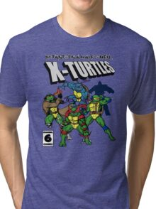 X-Turtles, Mutants in a half shell (Colab with RPAdame) Tri-blend T-Shirt