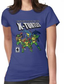 X-Turtles, Mutants in a half shell (Colab with RPAdame) Womens Fitted T-Shirt