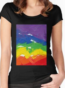 "Energetic Abstractions - ""Colour Splash"" Women's Fitted Scoop T-Shirt"