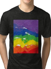"Energetic Abstractions - ""Colour Splash"" Tri-blend T-Shirt"
