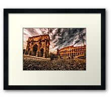 Piazza Del Colosseo Framed Print