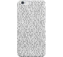 little things lyrics iPhone Case/Skin