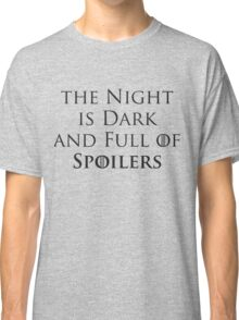 Game of Thrones - Spoilers Classic T-Shirt