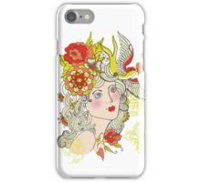 Retro style spring woman iPhone Case/Skin