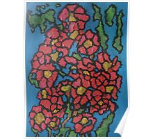 Red Flowering Bush Poster