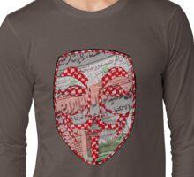 Guy Fawkes Rebellion Design Long Sleeve T-Shirt