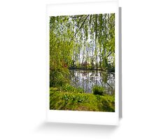 Through the Willow Trees Greeting Card