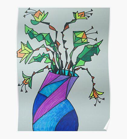Daffodils in Vase Poster