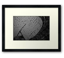 Rain at the airport Framed Print