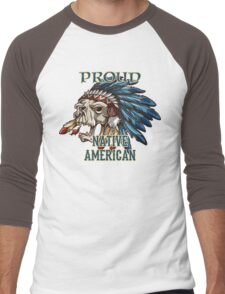 Proud Native American Men's Baseball ¾ T-Shirt