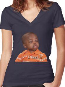 I feel it Women's Fitted V-Neck T-Shirt