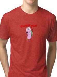 courage the cowardly adventurer Tri-blend T-Shirt