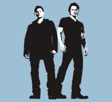 Dean & Sam, black & white by cirdec