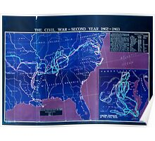 Civil War Maps 1759 The comprehensive series historical-geographical maps of the United States 02 Inverted Poster