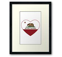 Bay Area California Love Heart  Framed Print