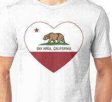 Bay Area California Love Heart  Unisex T-Shirt
