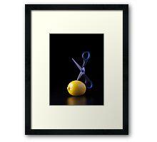 I Hate Fruit - Lemon Framed Print