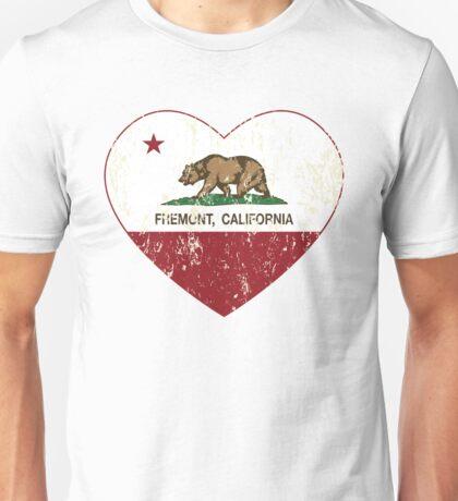Fremont California Love Heart Distressed Unisex T-Shirt