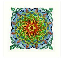 Fire Renewal Mandala Celtic Knot Art Print
