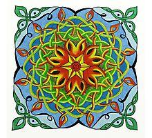 Fire Renewal Mandala Celtic Knot Photographic Print