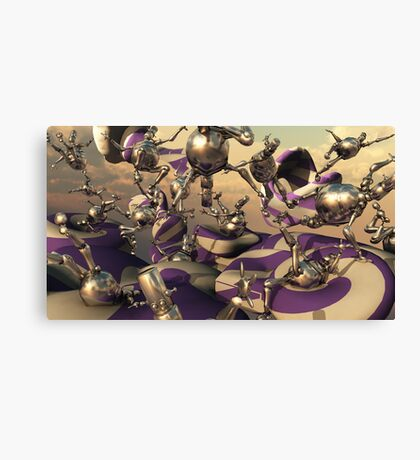 Bouncing Bots Canvas Print