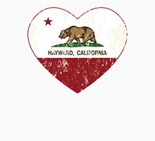 Hayward California Love Heart Distressed Unisex T-Shirt