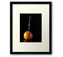 I Hate Fruit - Orange Framed Print