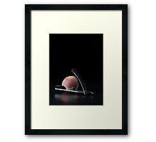 I Hate Fruit - Peach Framed Print