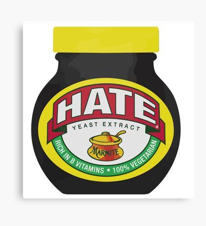 Marmite Hate Canvas Print