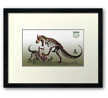 Tyrantrum Fossil Framed Print