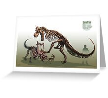Tyrantrum Fossil Greeting Card