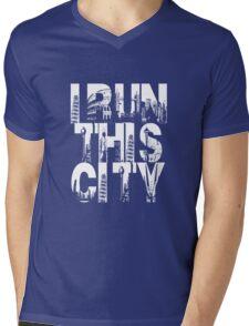I Run This City Mens V-Neck T-Shirt
