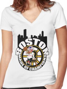 Boston Made OF Champions Women's Fitted V-Neck T-Shirt