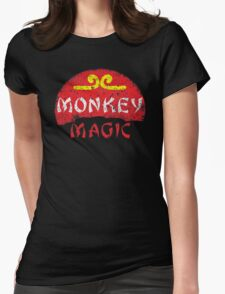 MONKEY MAGIC (distressed) Womens Fitted T-Shirt