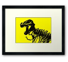 T-Rex Skeleton Framed Print