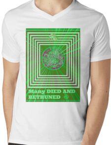 many retruned Mens V-Neck T-Shirt