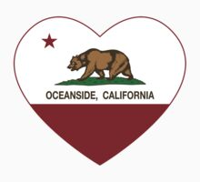 Oceanside California Love Heart  Baby Tee