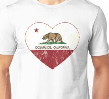 Oceanside California Love Heart Distressed Unisex T-Shirt