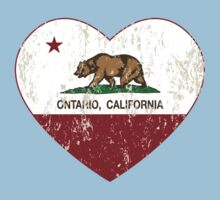 Ontario California Love Heart Distressed Kids Clothes