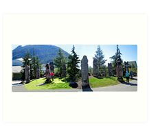 FOX HILL TOTEM POLE PARK-KETCHIKAN,ALASKA Art Print