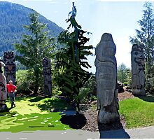 FOX HILL TOTEM POLE PARK-KETCHIKAN,ALASKA by JAYMILO