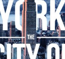 New york - the city of dreams Sticker
