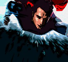 Superman: Man of Steel Ink Painting by pyjamaszoidpics
