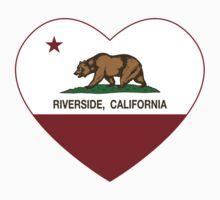 Riverside California Love Heart  Kids Tee