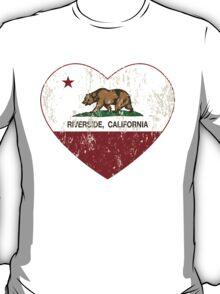 Riverside California Love Heart Distressed T-Shirt