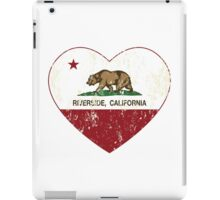 Riverside California Love Heart Distressed iPad Case/Skin