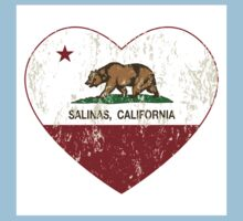 Salinas California Love Heart Distressed Kids Clothes