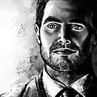 Black and White Oliver Portrait by humansrsuperior
